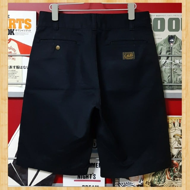 定価16500円 CALEE キャリー T/C チノ ショートパンツ S ブラック  < ブランドの