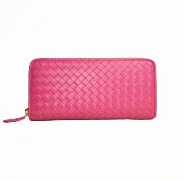 ラムレザー長財布(ピンク)FDW—02  < 女性ファッションの