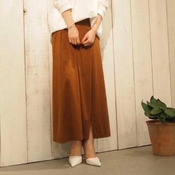 ◆GYDA/ジェイダ◆フェイクスエードマキシスカート★キャメルF*春〜秋OK♪美品
