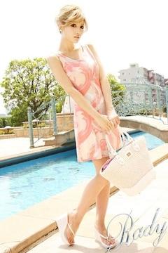 新品タグ付 Rady レディ マーブル タンクミニワンピース プッチ柄 ピンク