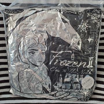アナと雪の女王2*きらきらシルバークッション*エルサ&ノック*黒