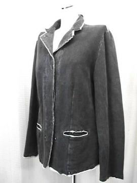 【レスピーギ】黒/ベージュのコットンジャケットです