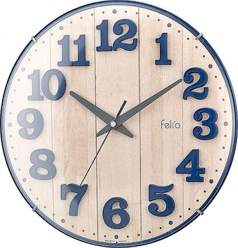 置き時計・掛け時計 ネイビー 高さ30.8×幅.30.8×奥行き5.7cm