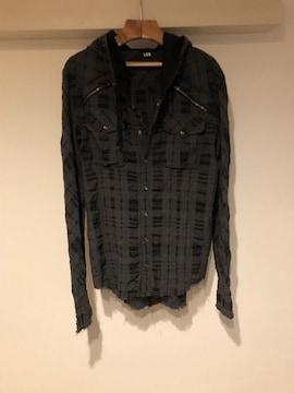 LGB ルグランブルー チェックシャツGパーカー メンズ1