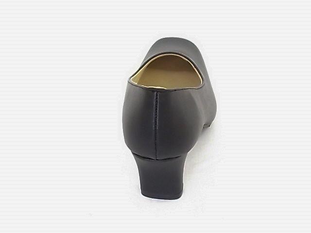 プレーンスクエアトゥパンプス 2200 22.5cm 黒 礼装 オフィス < 女性ファッションの