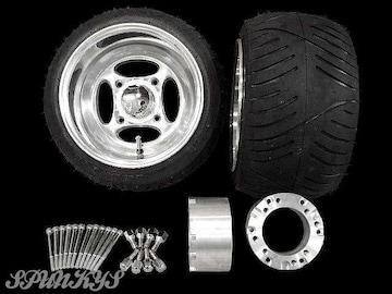 ジャイロ用 クロスホイール扁平タイヤ&スペーサー70mm