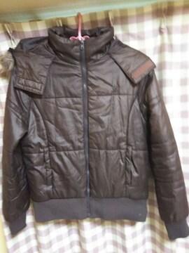 ★PIKO ダウンタイプ ジャンバー ジャケット サイズL ブラウン系色 ファー脱着可★