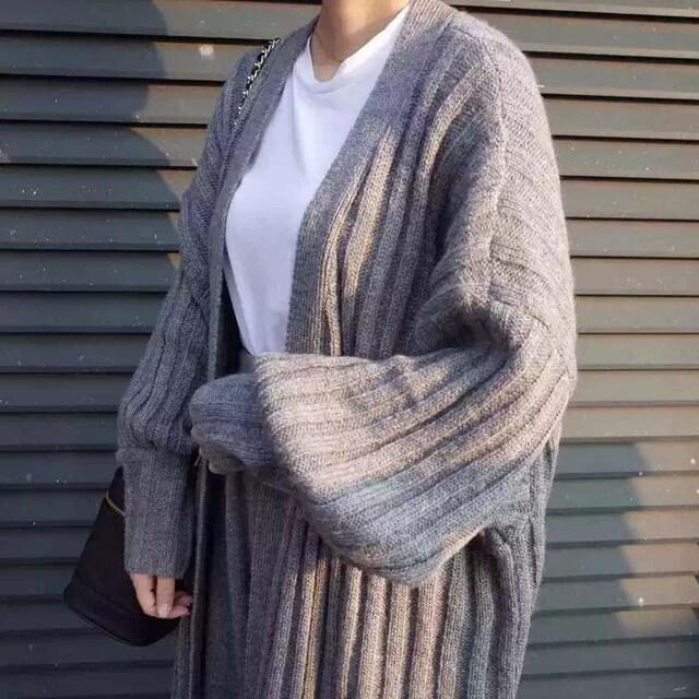 Y6004即決 新品 ドルマン カーディガン グレー ニット イング GU ザラ 好きに < 女性ファッションの