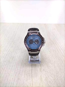 GUESS(ゲス)型押しレザーストラップ アナログ 腕時計クオーツ腕時計