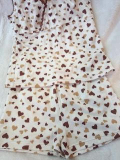 〓 ハートいっぱい〓 可愛い タンクトップ&ショートパンツ 〓 < 女性ファッションの