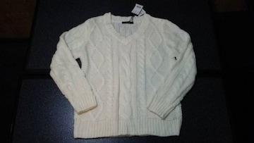 新品 INGNI イング 長袖 ケーブル セーター ニット オフホワイト