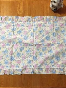 370.新品☆まくらカバー☆ブルーとパープル花柄