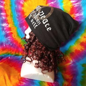 Cool(*´艸`)メタルスタッズピースがカッコイイッ♪ニット帽子
