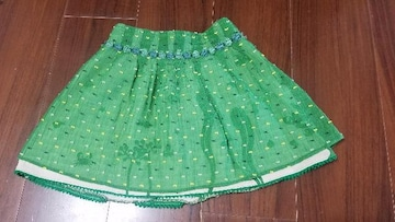 ★natural Boo★グリーンスカート★ブーフーウー★サイズ100★