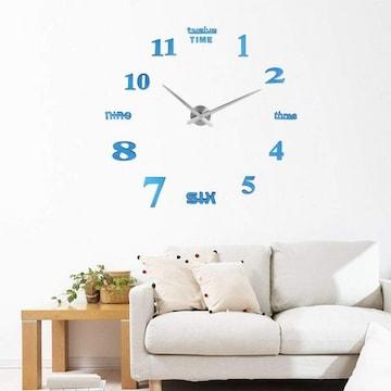 掛け時計 手作り DIY 壁時計 インテリア ブルー
