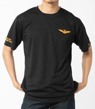 新品正規バンソンメッシュTシャツVS21806黒×イエロー