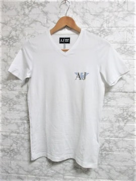 ☆アルマーニジーンズ プリント ロゴ 刺繍 Tシャツ 半袖/メンズ/XS☆新品