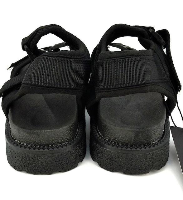 [HAFOS] サンダル レディース  厚底 23CM ブラック < 女性ファッションの