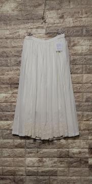 ***SELF+SERVICE*** 裾 刺繍レース スカート 新品 Off-White