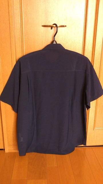 激安86%オフライカ、大きめ、半袖シャツ(新品タグ、紺、日本製、L) < 女性ファッションの