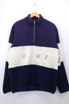 Dime(ダイム)ロゴ刺繍 ハーフジップフリースジャケットブルゾン・ジャンパー