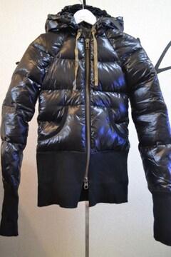 LGBルグランブルー デカフードダウンジャケット