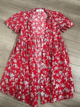 美品グローバルワーク羽織りシャツワンピS小花柄
