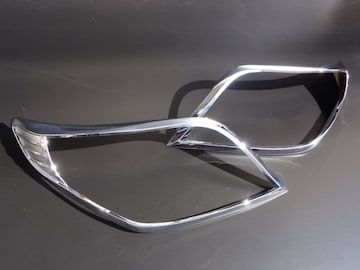 クロームメッキヘッドライトリング プラド150系