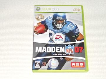 xbox360★マッデン NFL 07 MADDEN★箱付・説明書付・ソフト付