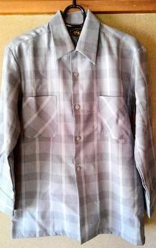 SASA ササ メンズ シャツ 灰色 グレー 日本製 S サイズ 洋服 男