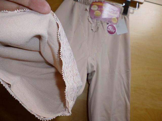 ガードル裏起毛5分丈ベージュMレースヒップアップ新品インナー < 女性ファッションの