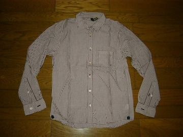 SILASサイラスギンガムチェックシャツ1薄手長袖