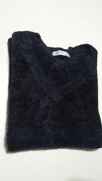 濃紺★柔らかふわふわのサマーセーター★Lサイズ美品です!