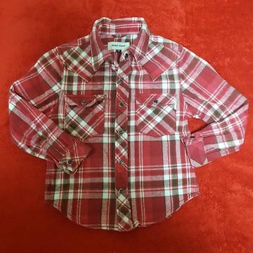 美品BeachSoundチェックシャツ☆サイズ110