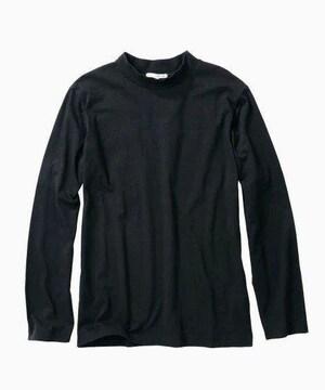 5Lサイズ!着まわし豊富!キマル!男の黒!長袖ハイネックTシャツ!新品!