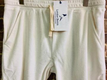 表記50/新品!イギリス発 ロンドンデニム 白 パイル地 ショートパンツ 定価¥5940