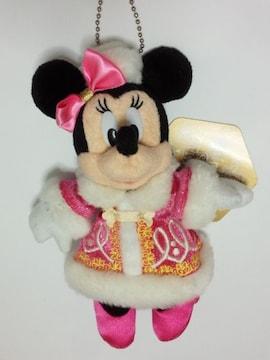 ディズニーシーカラーオブクリスマスミニーぬいぐるみバッジぬいば新品タグ付き103