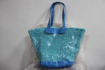 D&Gディー&ジー ビーチウェアライン タオル地×ビニールバッグ