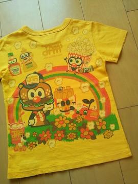 中古レインボーTシャツ120黄JAM