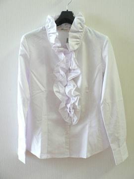 ブラウス 9号 Mサイズ 長袖  白◆未着用・即決!