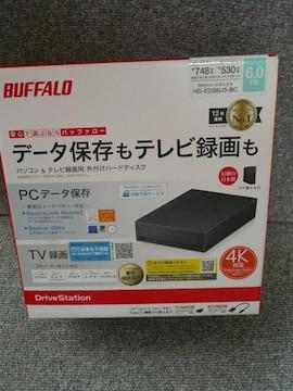 BUFFALO「外付けハードディスクHD-EDS6U3-BC 6.0TB」