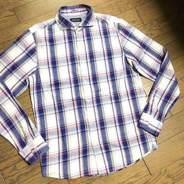 美品NANO UNIVERSE チェックシャツ ナノユニバース