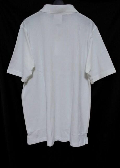 セールビッグシルエット着回し抜群★ホワイトポロシャツ < 男性ファッションの