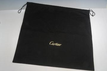 Cartier カルティエ 巾着型  保存袋 キャンバス 黒