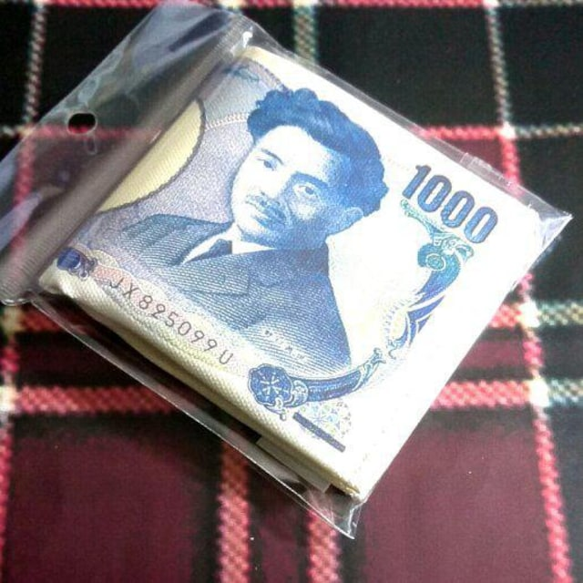 折畳財布◇1000円札デザイン◇未使用 < 男性ファッションの