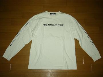 マーブルズ MARBLES ロンTシャツ M 白 カットソー ★星ロゴ TMT