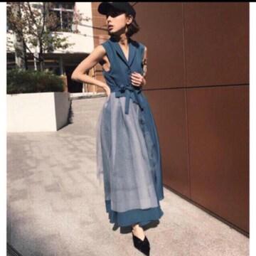 AMERI vintage TULLE DOCKING DRESS