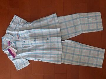 新品★パーソンズ PERSONS パジャマ 上下 水色110