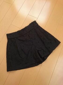 新品タグ付★エゴイスト★フラワーレースショートパンツ ブラック/F EGOIST 人気完売
