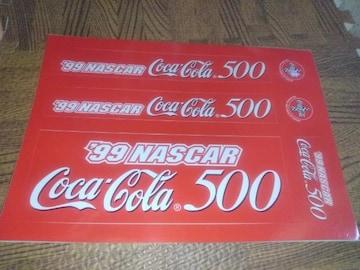 99 ナスカー コカ・コーラ500 ステッカー